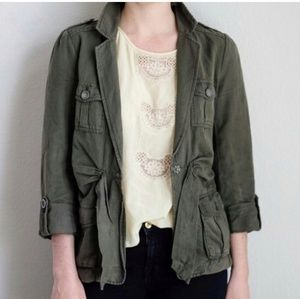 Anthropologie Cartonnier Green Utility Jacket | 8